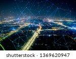 modern city with wireless... | Shutterstock . vector #1369620947