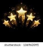Five Shining Stars Of Gold Foi...