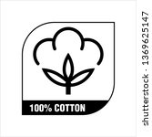 one hundred percent cotton icon ... | Shutterstock .eps vector #1369625147