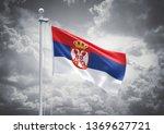 3d rendering of serbia flag is... | Shutterstock . vector #1369627721