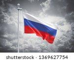 3d rendering of russia flag is... | Shutterstock . vector #1369627754
