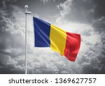 3d rendering of romania flag is ... | Shutterstock . vector #1369627757
