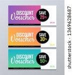 discount voucher set with... | Shutterstock .eps vector #1369628687