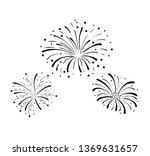 Hand Drawn Doodle Fireworks ...