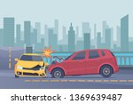 accident road background.... | Shutterstock .eps vector #1369639487