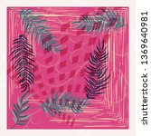 scarf floral pattern. bandana ... | Shutterstock .eps vector #1369640981