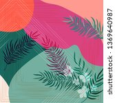 scarf floral pattern. bandana ... | Shutterstock .eps vector #1369640987