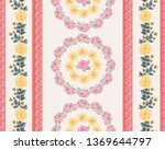 striped floral pattern.... | Shutterstock .eps vector #1369644797