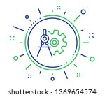 cogwheel dividers line icon.... | Shutterstock .eps vector #1369654574