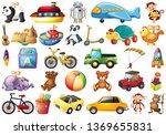 set of children toys... | Shutterstock .eps vector #1369655831