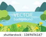 vector nature eco background in ... | Shutterstock .eps vector #1369656167