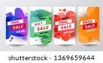 set of story template... | Shutterstock .eps vector #1369659644