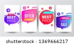 story template collection with... | Shutterstock .eps vector #1369666217