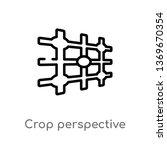 crop perspective vector line... | Shutterstock .eps vector #1369670354