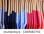 store clothes rack   colorful... | Shutterstock . vector #1369682741
