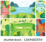vector abstract floral herbal... | Shutterstock .eps vector #1369683554