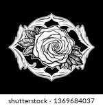 beautiful hand drawn rose... | Shutterstock .eps vector #1369684037