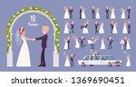bride and groom on wedding... | Shutterstock .eps vector #1369690451