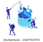 firewall attack  phishing scam  ...   Shutterstock .eps vector #1369701974