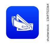 fashion belt icon blue vector... | Shutterstock .eps vector #1369702364