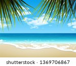 landscape. shore of the azure...   Shutterstock .eps vector #1369706867