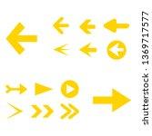 arrow icon set isolated on...