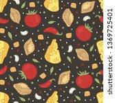 vector seamless pattern. hand... | Shutterstock .eps vector #1369725401