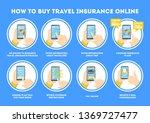 how to buy travel insurance... | Shutterstock .eps vector #1369727477