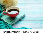 close up of a cup of coffee and ... | Shutterstock . vector #1369727801