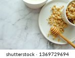 close up of cereal on white... | Shutterstock . vector #1369729694