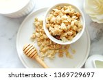 close up of cereal on white... | Shutterstock . vector #1369729697