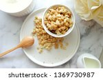 close up of cereal on white... | Shutterstock . vector #1369730987