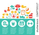 healthy lifestyle infographics... | Shutterstock .eps vector #1369733117