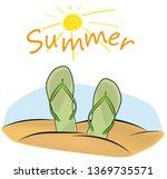 summer holiday illustration... | Shutterstock .eps vector #1369735571