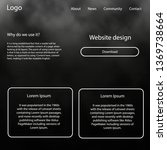 light gray vector web ui kit...
