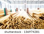 stacked copper spiral parts in... | Shutterstock . vector #136974281