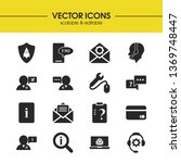 service icons set with shield...