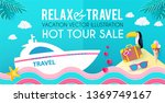 hot vacation design template....   Shutterstock .eps vector #1369749167