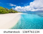 beautiful beach and tropical... | Shutterstock . vector #1369761134