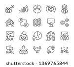 set of business people icons ... | Shutterstock .eps vector #1369765844