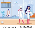 futuristic space travels flat... | Shutterstock .eps vector #1369767761