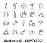 set of alcohol icons  such as... | Shutterstock .eps vector #1369768004