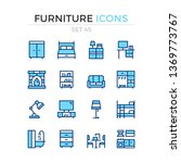 furniture icons. vector line... | Shutterstock .eps vector #1369773767