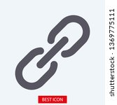 chain  link icon vector. link... | Shutterstock .eps vector #1369775111