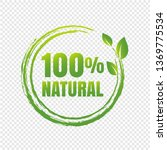 100  natural product...   Shutterstock .eps vector #1369775534
