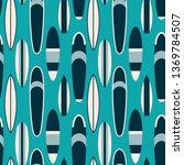 surf boards seamless pattern.  | Shutterstock .eps vector #1369784507