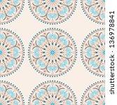 mediterranean pattern on light... | Shutterstock .eps vector #136978841