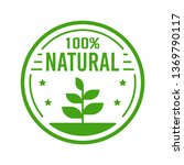 natural organic product. flat... | Shutterstock .eps vector #1369790117