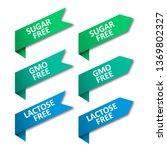 set of tags ribbons. sugar free ... | Shutterstock .eps vector #1369802327