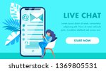 live chat website landing page...
